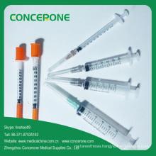Syringe with Needle, Medical Disposable Syringe, Insulin Syringe