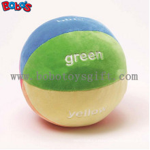 "5.9""Soft Colorful Plush Baby Ball Toy Baby Educational Rattle Toybosw1055"