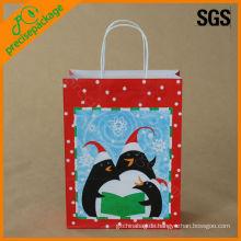 bedruckte Weihnachtspapierverpackungstüte