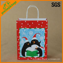 printed christmas paper packaging bag