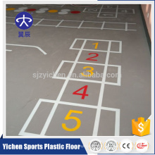 fitness/gym room safety movable fireproof durable pvc flooring