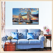 Лондонский мост Безрамное искусство на холсте, готовое повесить