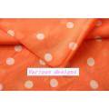 Tela impresa Polk DOT de la gasa del poliéster del más nuevo diseño 2015 para la blusa de las señoras
