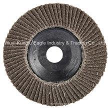 4 '' Calcination Oxide Flap Abrasive Scheiben (Kunststoffabdeckung 22 * 13mm 40 #)