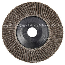 Discos abrasivos de aleteo de óxido de calcinación 4 '' (cubierta de plástico 22 * 13 mm 40 #)