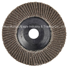 4′′ Calcination Oxide Flap Abrasive Discs (Plastic cover 22*14mm 40#)