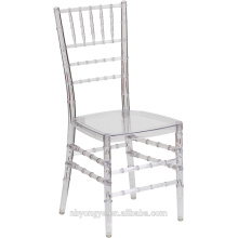 High quality low price crystal resin chiavari chair