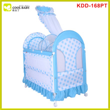 Hot sale european standard tc fabric rocking crib