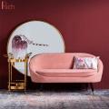 Modern European Style Soft Cafe Loveseat Sofa Living Room Furniture French Velvet Sofa
