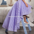 Fashion girl's party prom gowns short front long back purple lace wedding party dress baby girl dress patterns
