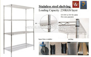 High quality kitchen stainless steel shelves wire storage racks/cold room shelving/wire metal shelving units
