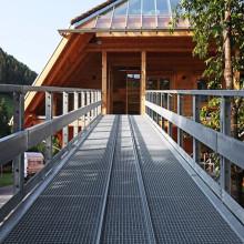 Reja de acero galvanizado plataforma