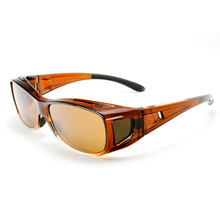 Designer Fashion Polarized Fit über Sonnenbrille Eye Wear (14297)