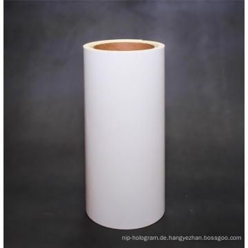 Gestrichenes Papier mit gelbem Trennpapier