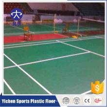 folha de esteira de piso de plástico badminton portátil removível