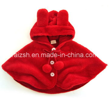 Thickening Cute Baby Hooded Cloak Cape Children