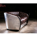 Modern Chesterfield Style Seater Sofa Furniture Retro Industrial Red Leather Sofa