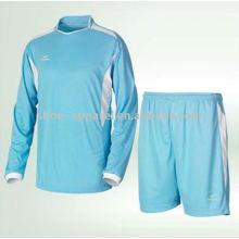 Mens manga longa kit de futebol / futebol jersey