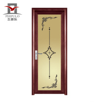 2018 cheap bathroom door with glass