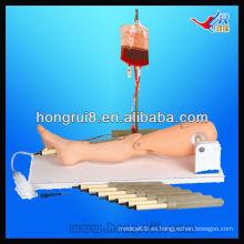 Punción de médula ósea ISO y simulador de venopunción femoral simulador, pierna de infusión intraósea