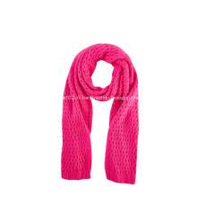 Écharpe chaude en tricot pointelle pour fille
