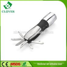 El CE ROHS aprobó la linterna llevada del poder más elevado chino de la herramienta de múltiples funciones con el cuchillo