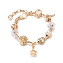 Ethnic style DIY beaded jewelry crystal bead bracelet