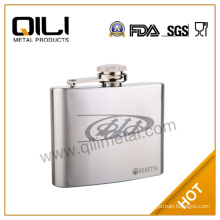 stainless steel hip flask with eagle brand logo
