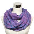 Damenmode Baumwolle Voile Printed Infinity Schal (YKY1011)