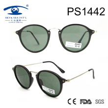 2017 en forme ronde PC slim temple Lady lunettes de soleil (PS1442)