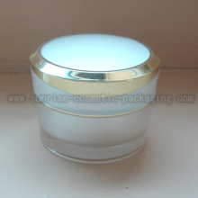 50ml Pyramid Shape White Acrylic Cosmetic Jar