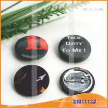 Gewohnheit bedruckte runde Anstecknadelbuttons Abzeichen mit sicherem Stift für Förderung BM1113