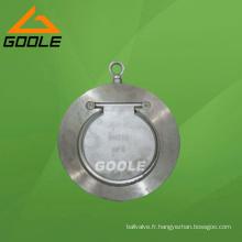 Clapet anti-retour à plaque unique en fonte d'acier (GAH74H)
