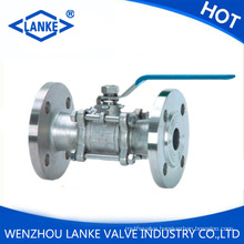 3PC Flanged Stainless Steel Ball Valve