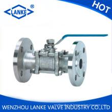 3PC flangeado válvula de esfera de aço inoxidável