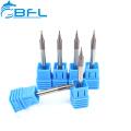 Fraises en bout de nez de bille en carbure monobloc BFL R0.15 * FL0.6 * D4 * 50L * 2F