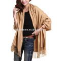 China factory pretty elegant handmade 100% pure pattern cashmere pashmina shawl