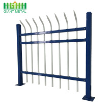 2.5m wide welded powder coated picket steel fencing