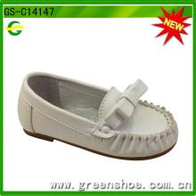 Zapato de bebé suave de cuero de la alta calidad suela