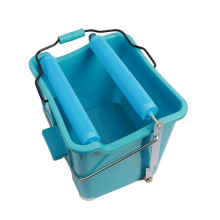 Wholesale Top Quality 14L single plastic wringer mop bucket for House cleaning