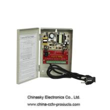 12VDC 4Amp 8 Channel CCTV Camera Power Supply Distribution Box 12VDC4A8P