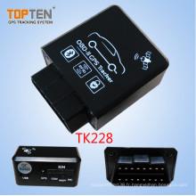 OBD2 voiture GPS Tracker avec relais sans fil arrêt restaurer le moteur, moniteur voix Tk228-Ez