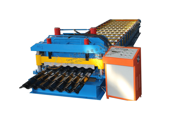 glazed steel rolling machine