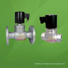 Brida / Válvula solenoide de vapor de rosca (GAZQDF)