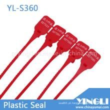 Selos ajustáveis da segurança do recipiente plástico