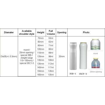 Spray Aerosol Tinplate Can (BN-Aerosol can-Dia35mm)