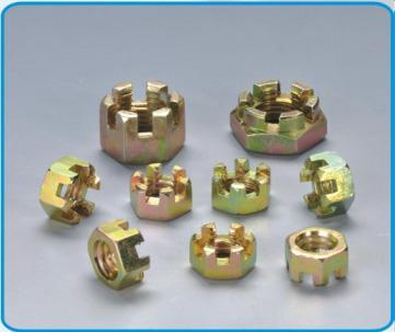 stainless steel slotted nut