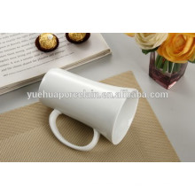 Tipo de vaso llano cerámica blanca cerámica cerveza taza