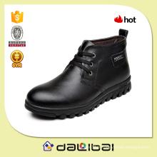 Forro de pelúcia de couro puro de alta qualidade forro barato masculino clássico sapatos de corte alto