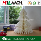 Latest white wholesale recycled paper folding christmas tree